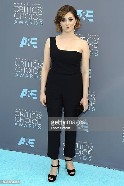 Actress Rachel Bloom attends the 21st Annual Critics' Choice Awards at Barker Hangar on January 17 2016 in Santa Monica California