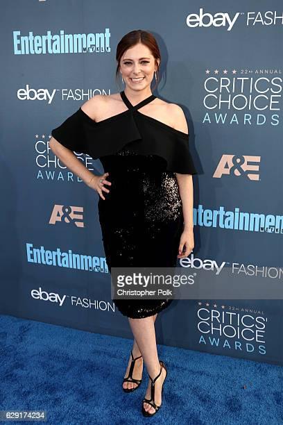 Actress Rachel Bloom attends The 22nd Annual Critics' Choice Awards at Barker Hangar on December 11, 2016 in Santa Monica, California.