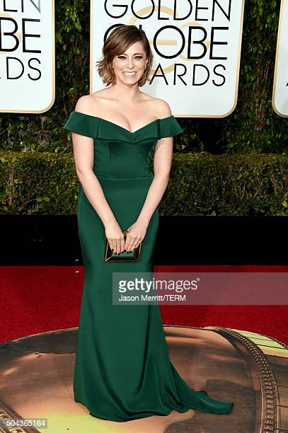 Actress Rachel Bloom attends the 73rd Annual Golden Globe Awards held at the Beverly Hilton Hotel on January 10, 2016 in Beverly Hills, California.
