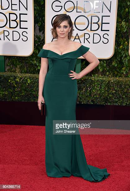 Actress Rachel Bloom attends the 73rd Annual Golden Globe Awards held at the Beverly Hilton Hotel on January 10 2016 in Beverly Hills California