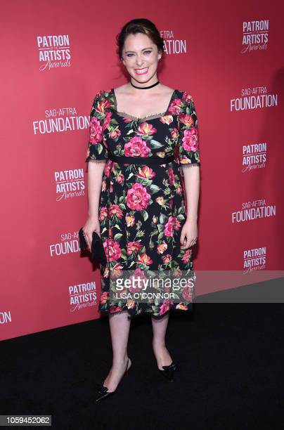 Actress Rachel Bloom attends the The SAGAFTRA Foundation 3rd Patron of the Artists Awards in Los Angeles California on November 8 2018
