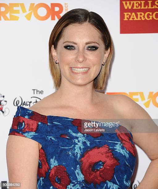 Actress Rachel Bloom attends TrevorLIVE LA 2015 at Hollywood Palladium on December 6 2015 in Los Angeles California