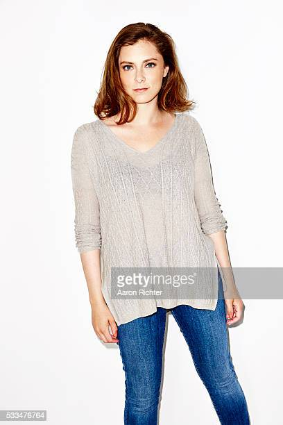 Actress Rachel Bloom is photographed for Aritzia #FallForUs in 2014 in Los Angeles, California. PUBLISHED IMAGE.