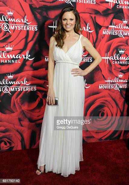 Actress Rachel Boston arrives at Hallmark Channel And Hallmark Movies And Mysteries Winter 2017 TCA Press Tour at The Tournament House on January 14...