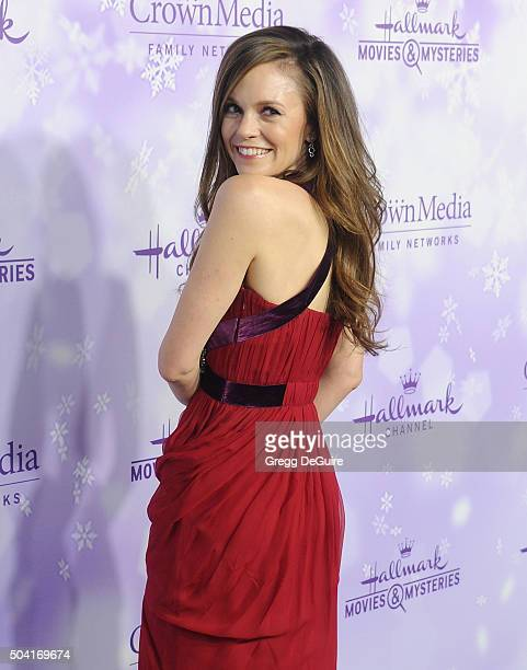 Actress Rachel Boston arrives at the Hallmark Channel and Hallmark Movies and Mysteries Winter 2016 TCA Press Tour at Tournament House on January 8,...
