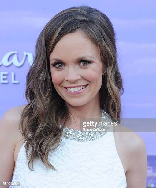 Actress Rachel Boston arrives at the Hallmark Channel and Hallmark Movies and Mysteries Summer 2016 TCA Press Tour Event on July 27, 2016 in Beverly...