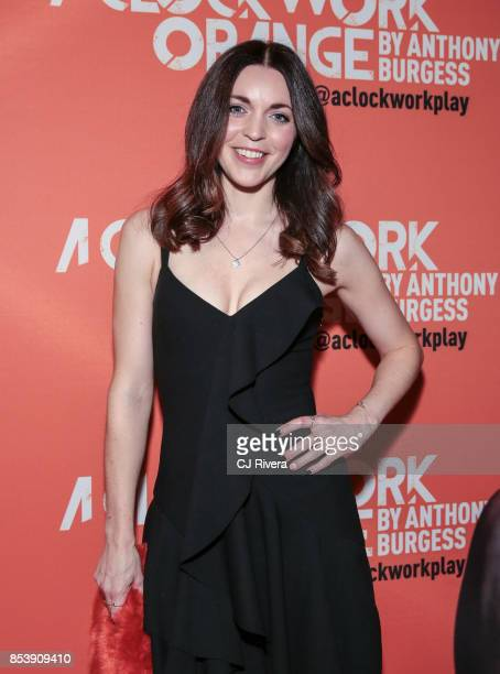 Actress Rachel Bright attends the OffBroadway opening night of 'A Clockwork Orange' at New World Stages on September 25 2017 in New York City