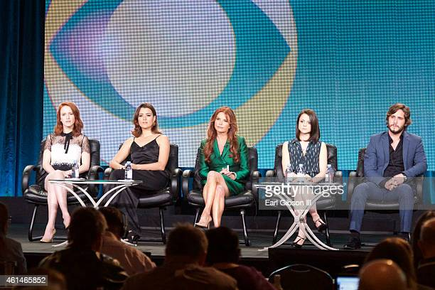 Actress Rachel Brosnahan Actress Cote de Pablo Executive Producer Roma Downey Actress Kathryn Prescott and Actress Diego Boneta serve as panelist for...