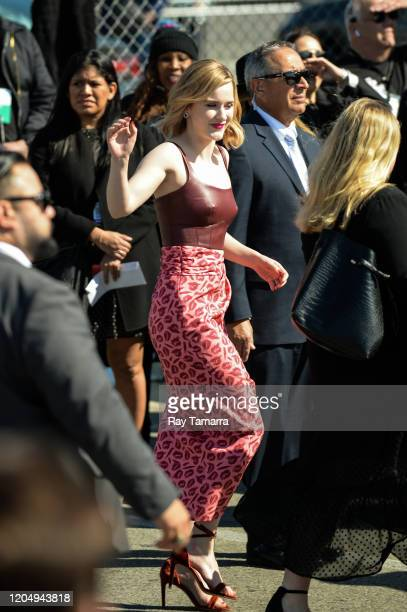 Actress Rachel Brosnahan arrives at the Independent Spirit Awards at Santa Monica Pier on February 08 2020 in Santa Monica California
