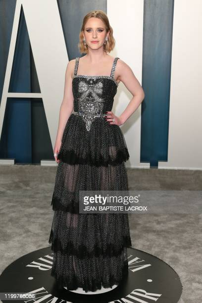 Actress Rachel Brosnahan attends the 2020 Vanity Fair Oscar Party following the 92nd Oscars at The Wallis Annenberg Center for the Performing Arts in...