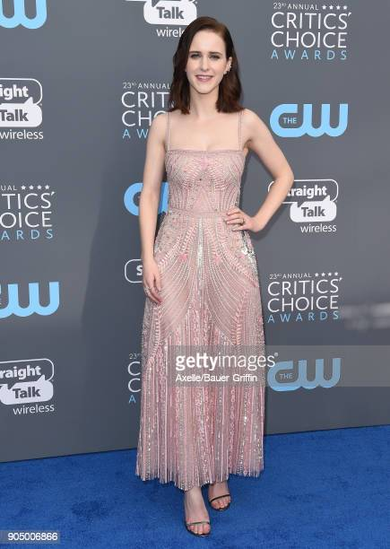 Actress Rachel Brosnahan attends the 23rd Annual Critics' Choice Awards at Barker Hangar on January 11 2018 in Santa Monica California
