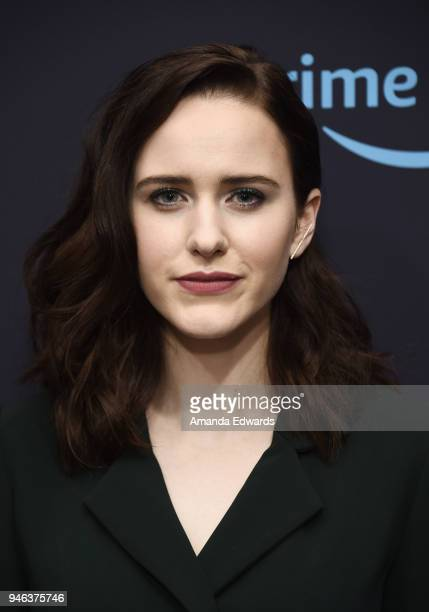 Actress Rachel Brosnahan attends 'The Marvelous Mrs Maisel' Emmy FYC Press Night at the Hollywood Athletic Club on April 14 2018 in Hollywood...