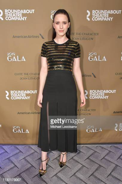 Actress Rachel Brosnahan attends the Roundabout Theatre Company 2019 Gala at The Ziegfeld Ballroom on February 25, 2019 in New York City.