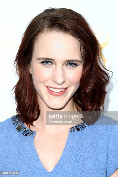 Actress Rachel Brosnahan attends the Television Academy's Performers Peer Group Hold Cocktail Reception To Celebrate 67th Emmy Awards held at Montage...