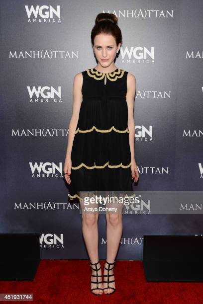 Actress Rachel Brosnahan attends WGN America's 'Manhattan' Panel during TCA at The Beverly Hilton Hotel on July 9 2014 in Beverly Hills California