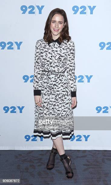 "Actress Rachel Brosnahan from ""The Marvelous Mrs Maisel"" attend the 92nd Street Y 'Marvelous Mrs Maisel' and 'Sneaky Pete' event at 92nd Street Y on..."