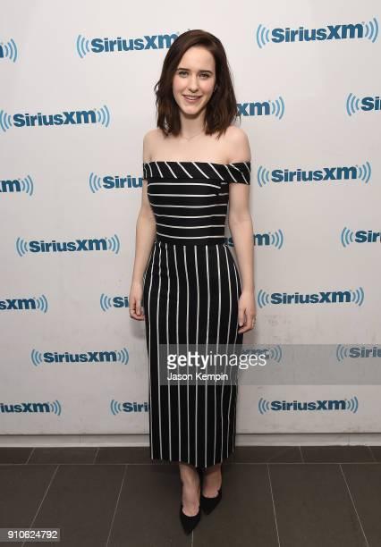 Actress Rachel Brosnahan visits SiriusXM Studios on January 26 2018 in New York City