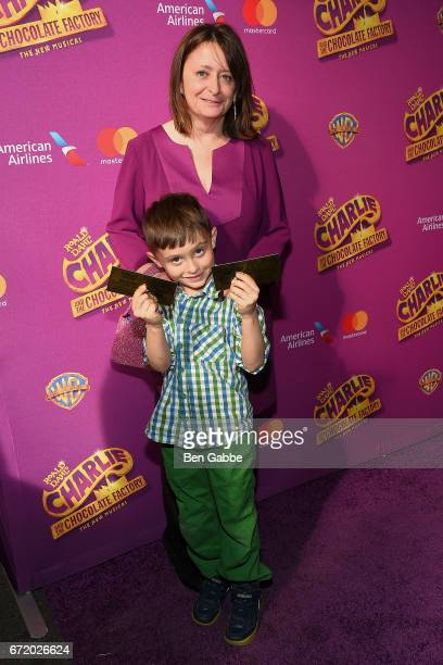 Actress Rachel Dratch and son Eli Benjamin Wahl attend the Charlie And The Chocolate Factory Broadway Opening Night at LuntFontanne Theatre on April...
