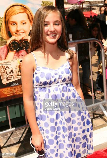 Actress Rachel Fox attends the premiere of Kit Kittredge An American Girl at The Grove on June 14 2008 in Los Angeles California