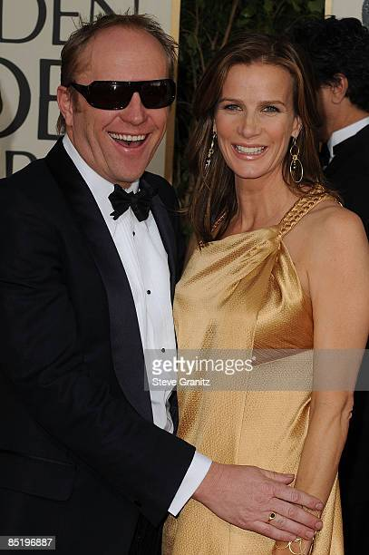Actress Rachel Griffiths and husband Andrew Taylor arrive at the 66th Annual Golden Globe Awards held at the Beverly Hilton Hotel on January 11 2009...