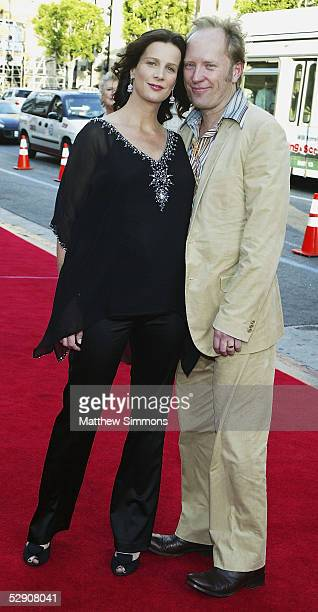 Actress Rachel Griffiths and husband Andrew Taylor arrive to the premiere of HBO's 'Six Feet Under' at Graumans Chinese Theatre on May 17 2005 in...