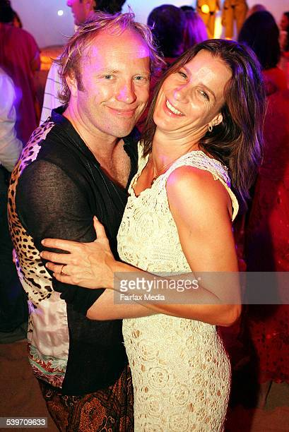 Actress Rachel Griffiths and husband Andrew Taylor at the Barefoot and Black Tie ball at Palm Beach 23 January 2006 SHD Picture by JENNY EVANS