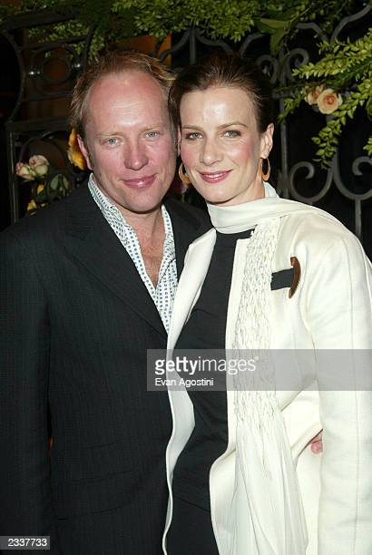 Actress Rachel Griffiths and husband Andrew Taylor attend the world premiere of the third season of HBO's Six Feet Under at Loews Kips Bay February...