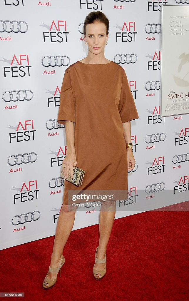 Actress Rachel Griffiths arrives at AFI FEST 2013 Opening Night Gala premiere of 'Saving Mr. Banks' at TCL Chinese Theatre on November 7, 2013 in Hollywood, California.