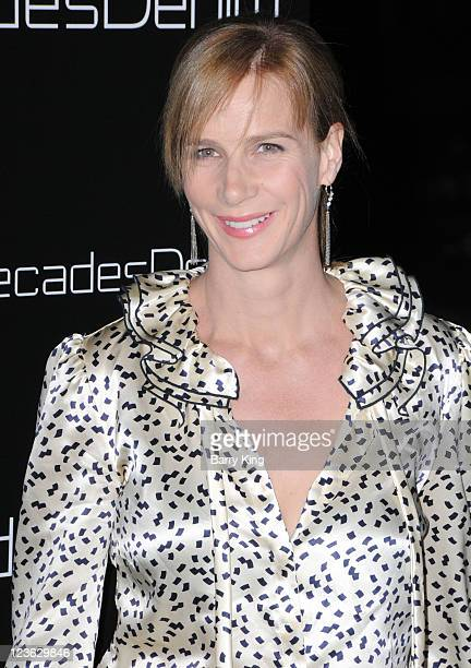 Actress Rachel Griffiths arrives at Decades Denim Launch Party at a private residence on November 2 2010 in Beverly Hills California
