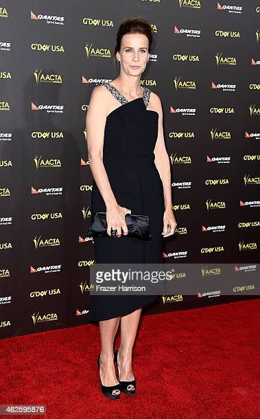 Actress Rachel Griffiths arrives at the 2015 G'Day USA Gala Featuring The AACTA International Awards Presented By QANTAS at the Hollywood Palladium...