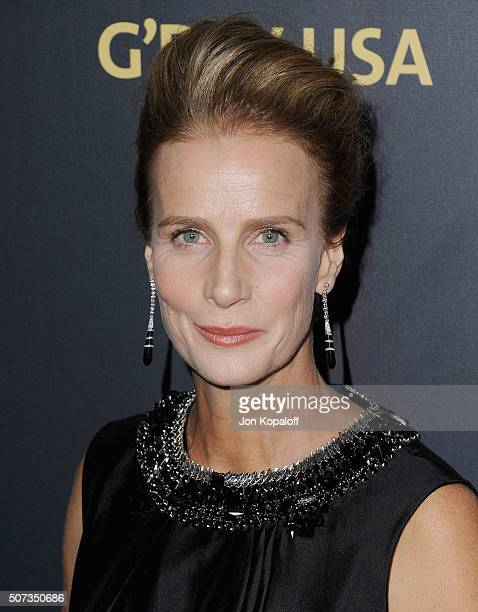 Actress Rachel Griffiths arrives at the 2016 G'Day Los Angeles Gala at Vibiana on January 28 2016 in Los Angeles California