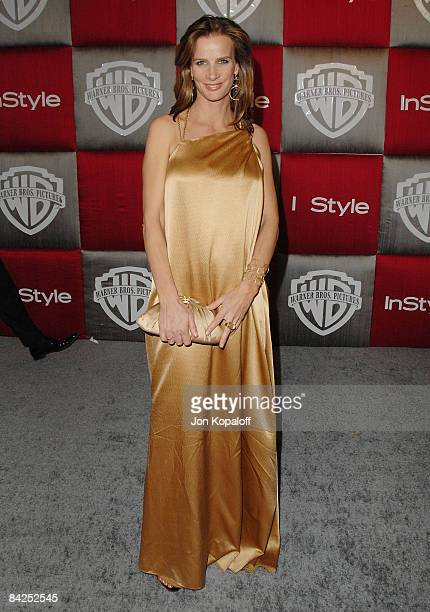 Actress Rachel Griffiths arrives at the 66th Annual Golden Globe Awards InStyle Warner Bros Official After Party at the Oasis Court at The Beverly...