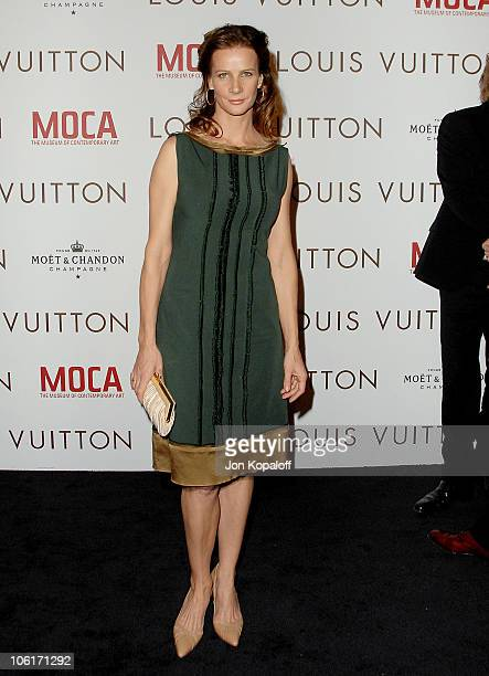 Actress Rachel Griffiths arrives at the Murakami Gala at MOCA hosted with Louis Vuitton on October 28 2007 in Los Angeles California