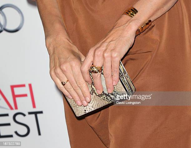 Actress Rachel Griffiths attends the AFI FEST 2013 presented by Audi premiere of Walt Disney Pictures' Saving Mr Banks at TCL Chinese Theatre on...
