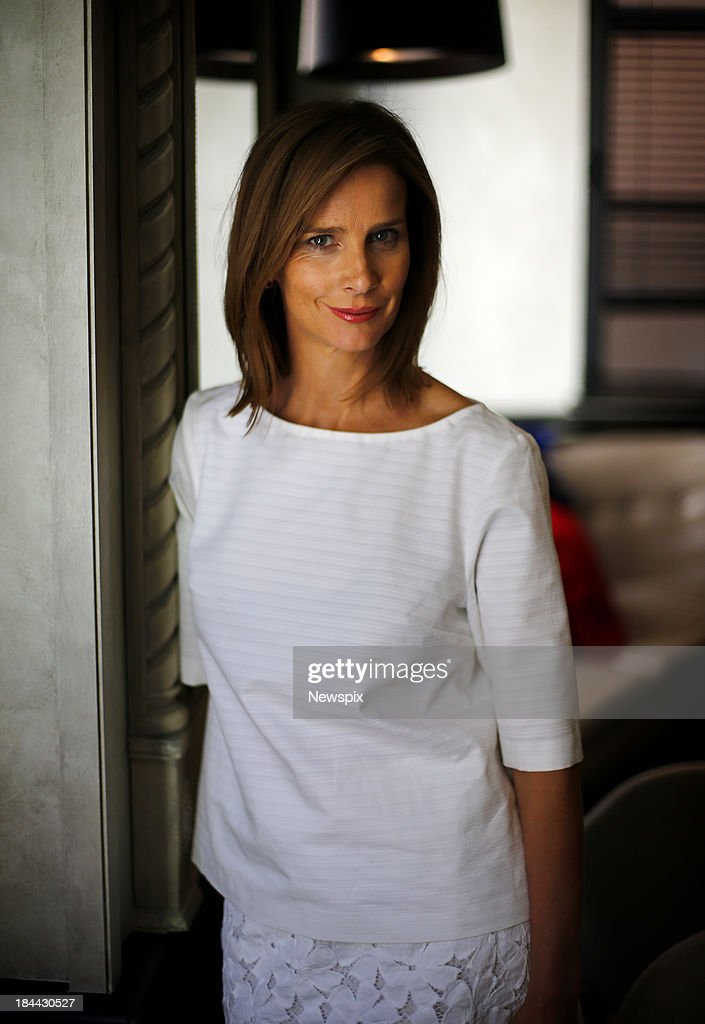 Actress Rachel Griffiths poses during a photo shoot at the QT Hotel on October 9, 2013 in Sydney, Australia. Griffiths is in Sydney to promote her new film 'Patrick'.