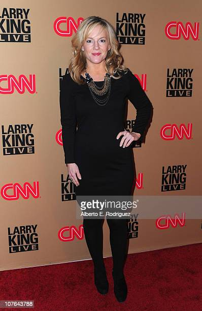 """Actress Rachel Harris arrives at CNN's """"Larry King Live"""" final broadcast party at Spago restaurant on December 16, 2010 in Beverly Hills, California."""