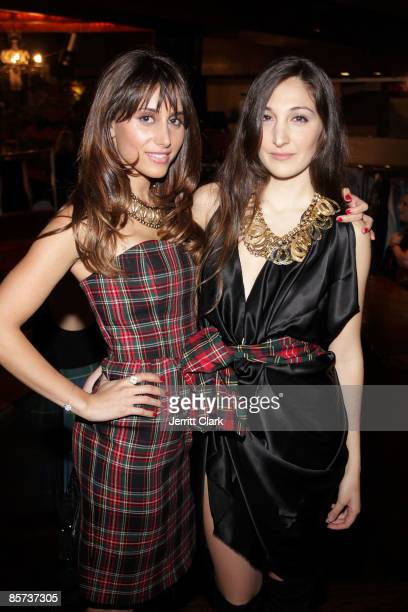 Actress Rachel Heller and designer Nicole Romano attend the 7th annual Dressed To Kilt charity fashion show at M2 Lounge on March 30 2009 in New York...