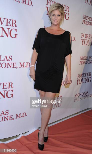 Actress Rachel Hunter attends Fashion Designer Amir Presents Dr Perricone's 'Forever Young' Book Launch Party at Beverly Hills Hotel on November 18...