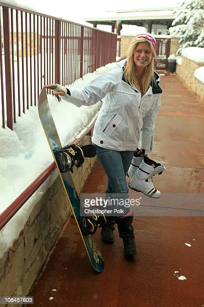 Actress Rachel Hunter attends Oakley 'Learn To Ride' Snowboard fueled by Muscle Milk at Oakley Lodge on January 23 2010 in Park City Utah