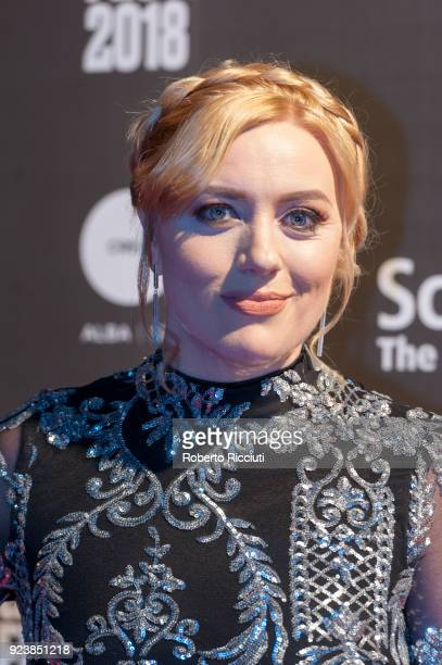 Actress Rachel Jackson attends the World Premiere of 'The Party's Just Beginning' during the 14th Glasgow Film Festival at Glasgow Film Theatre on...