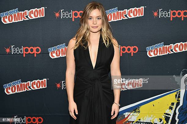 Actress Rachel Keller attends the FX Network's Legion Press Room during 2016 New York Comic Con at The Javits Center on October 9 2016 in New York...