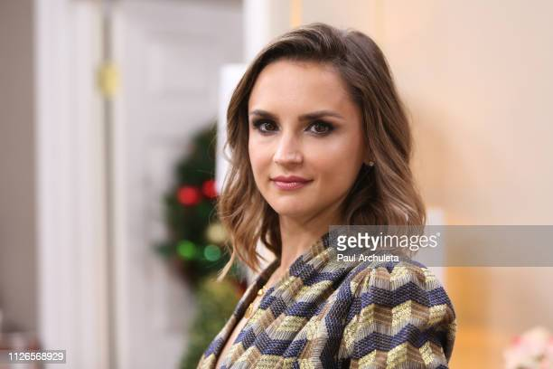 Actress Rachel Leigh Cook visits Hallmark's Home Family at Universal Studios Hollywood on January 31 2019 in Universal City California