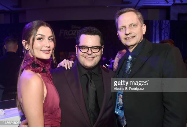 Actress Rachel Matthews Actor Josh Gad and Jeff Draheim attend the world premiere of Disney's Frozen 2 at Hollywood's Dolby Theatre on Thursday...