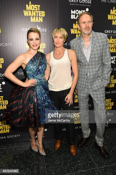 Actress Rachel McAdams actress Robin Wright and director Anton Corbijn attend The Cinema Society and Montblanc premiere of Lionsgate and Roadside...