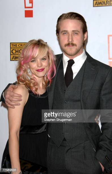 Actress Rachel McAdams and actor Ryan Gosling arrive at the 12th Annual Critics' Choice Awards held at the Santa Monica Civic Auditorium on January...