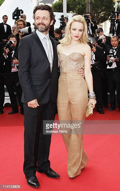 Actress Rachel McAdams and Michael Sheen arrive at the 'Sleeping Beauty' premiere during the 64th Annual Cannes Film Festival at the Palais des...