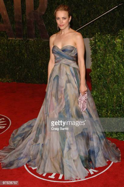 Actress Rachel McAdams arrives at the 2010 Vanity Fair Oscar Party hosted by Graydon Carter held at Sunset Tower on March 7, 2010 in West Hollywood,...