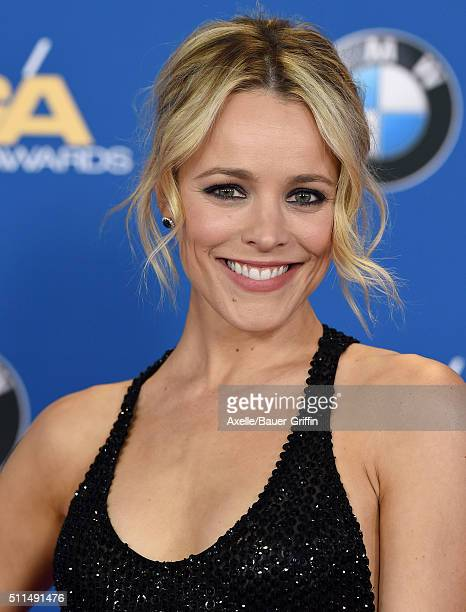 Actress Rachel McAdams arrives at the 68th Annual Directors Guild of America Awards at the Hyatt Regency Century Plaza on February 6 2016 in Los...