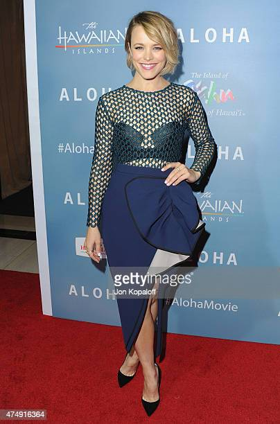 Actress Rachel McAdams arrives at the Los Angeles Premiere 'Aloha' at The London West Hollywood on May 27 2015 in West Hollywood California