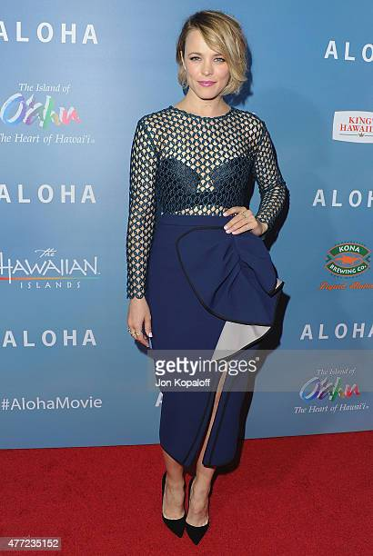 """Actress Rachel McAdams arrives at the Los Angeles Premiere """"Aloha"""" at The London West Hollywood on May 27, 2015 in West Hollywood, California."""